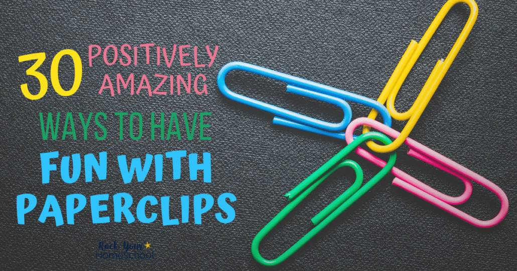 Easily enjoy frugal fun at home with your kids using these ideas for fun with paperclips.