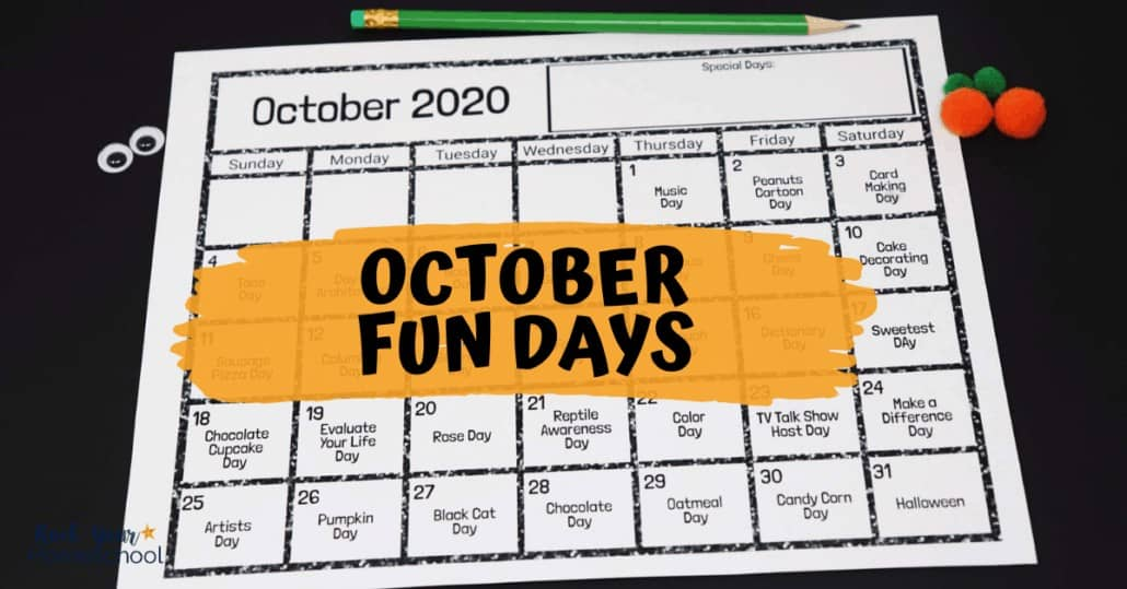 Your kids will have outstanding fun with this free printable calendar of fun holidays & activities.