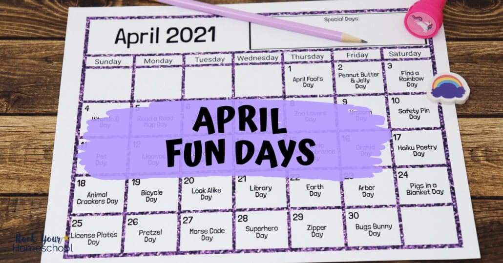 Have a blast with your kids using this awesome April Fun Days & Activities Calendar.