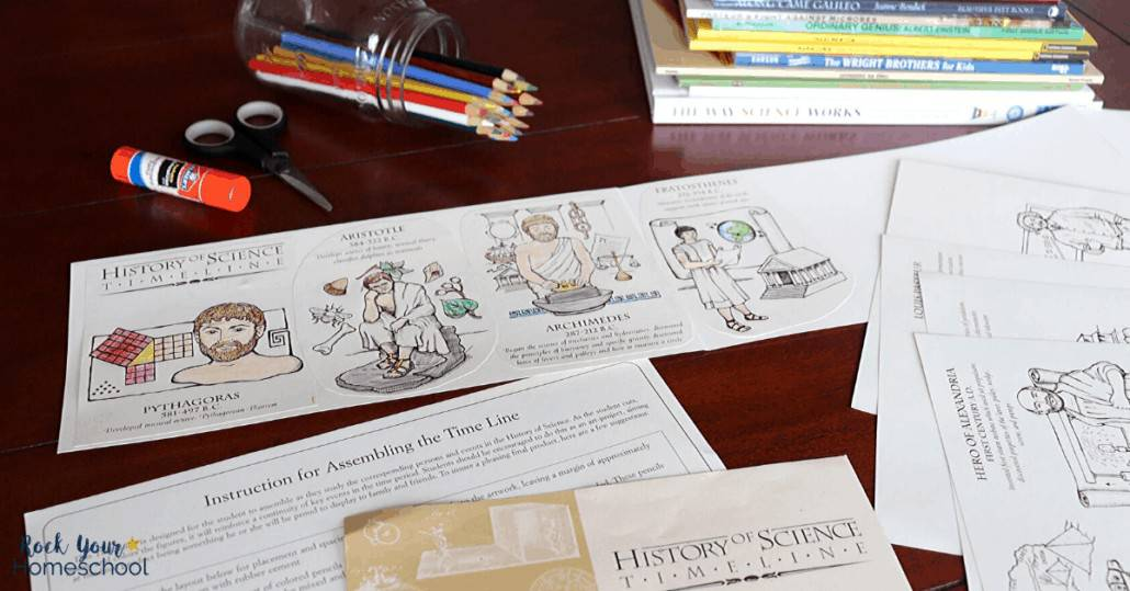 The timeline component of A History of Science from Beautiful Feet Books is an excellent activity for reinforcing the literature and experiments for intermediate grades.