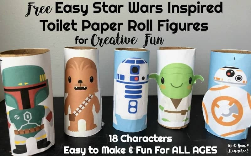 Give your kids some hands-on Star Wars fun with these free toilet paper roll figures.