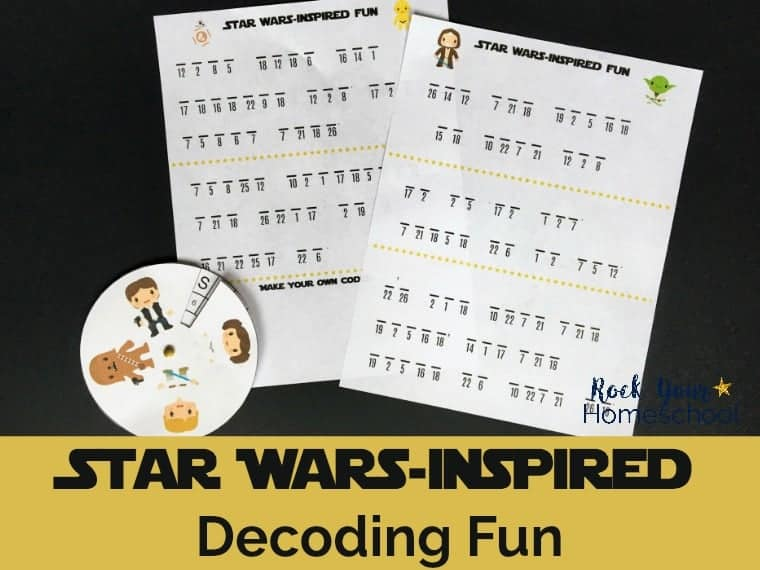 Have stellar fun with these free Star Wars-Insired Decoding Fun activities.