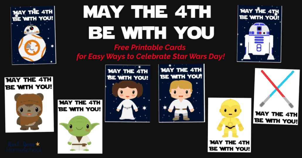 Celebrate May The 4th Be With You Day with these free Star Wars cards.