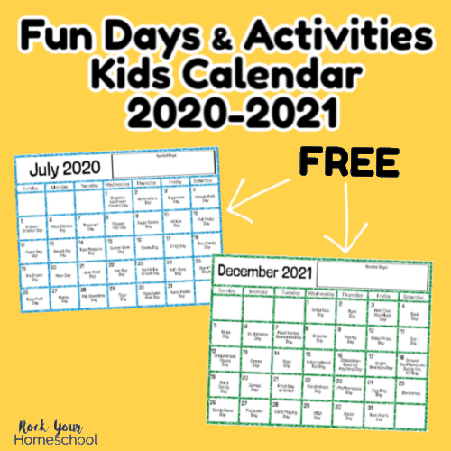 This Fun Days & Activities Kids Calendar 2020-2021 will help you enjoy amazing times with your kids.
