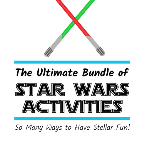 Have stellar fun with The Ultimate Bundle of Star War Activities filled with printables & ideas.
