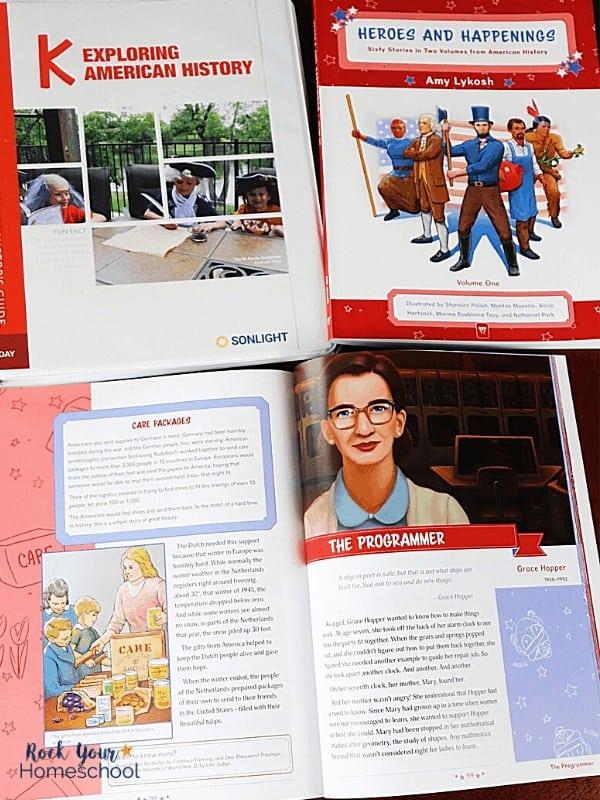 Sonlight's Exploring American History includes resources that help you easily enrich your Kindergarten Homeschool.