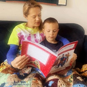 You can enrich your Kindergarten homeschool & still enjoy read-alouds with snuggles using Exploring American History.