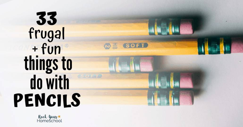 Your kids will have a blast with these 33 frugal & fun things to do with a pencil.