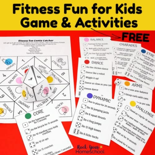Make fitness fun for kids with this free printable game and activities.