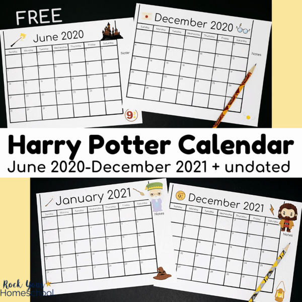 These set of free Harry Potter-Inspired calendar pages are amazing for magical planning fun.