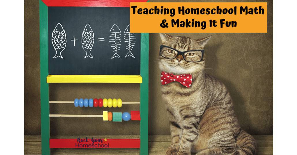 Get ideas & tips for teaching homeschool math & making it fun for kids at home.
