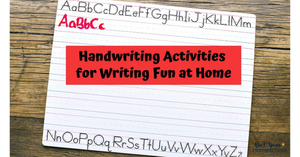 Find creative ways to make homeschool writing fun with these tips & resources for handwriting.