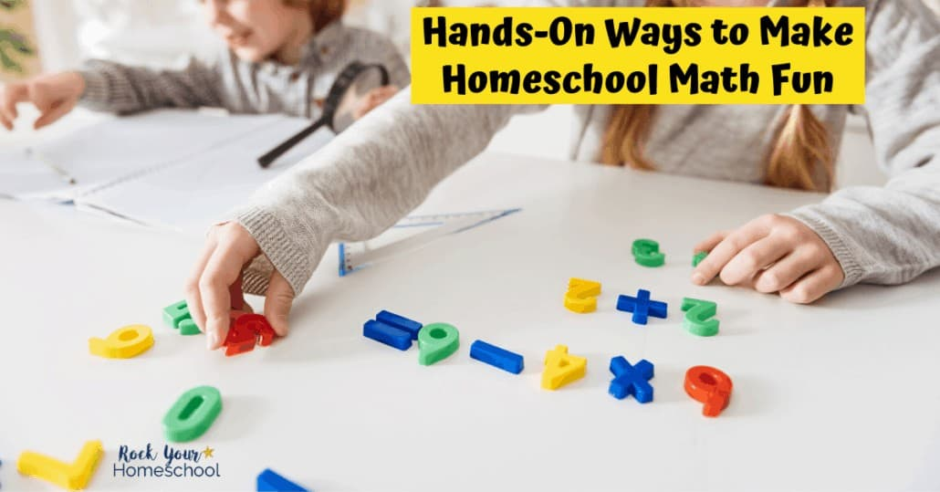 Give your kids hands-on math activities to make learning math at home fun.