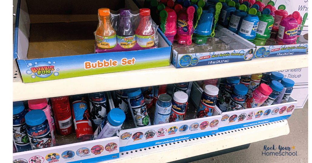 Find amazing ways to stock up for summer fun at home with Dollar Tree, like getting an awesome variety of bubbles.