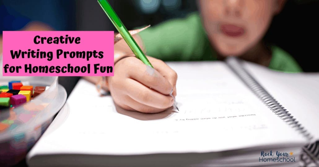 Give your kids creative writing prompts & activities to make homeschool writing fun.