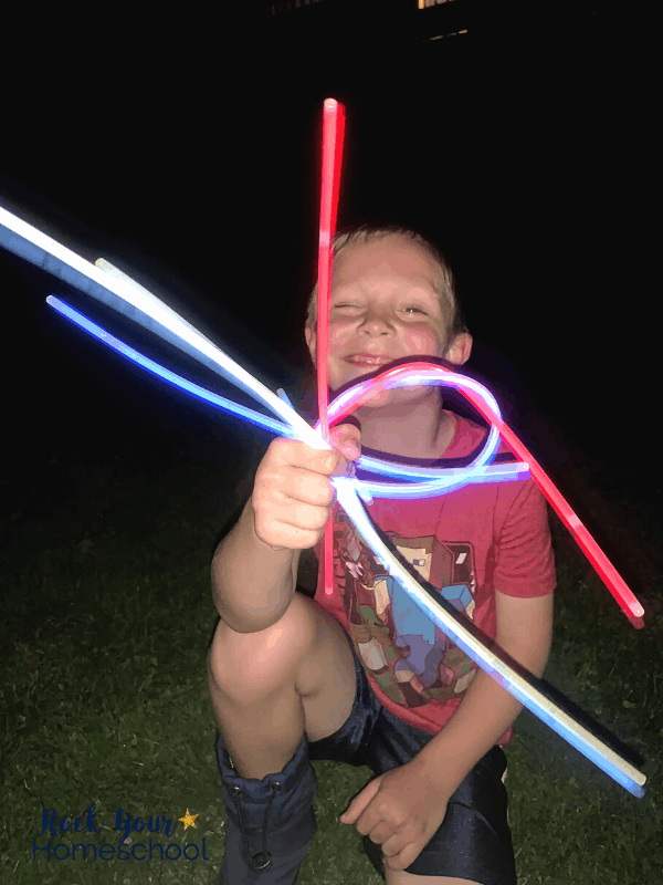 Enjoy special fun at home with these tips & ideas for stocking up at Dollar Tree, like with glow sticks.