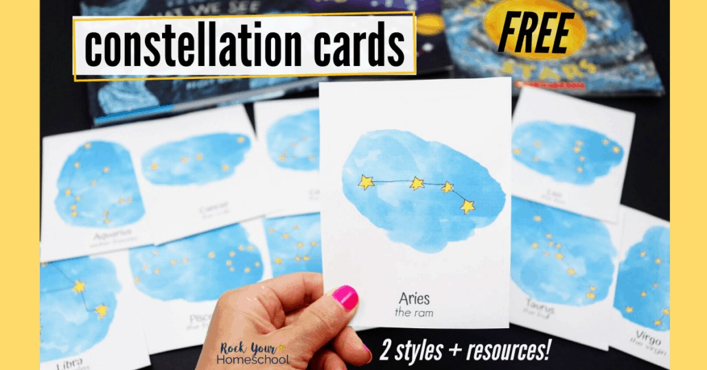 Enjoy special science fun with these free constellation cards. Amazing ways to add hands-on activities to your learning fun!