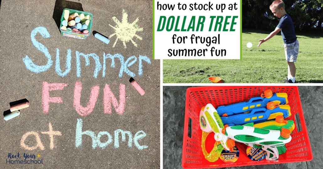 Enjoy frugal summer fun at home with these terrific tips & ideas for how to stock up at Dollar Tree.