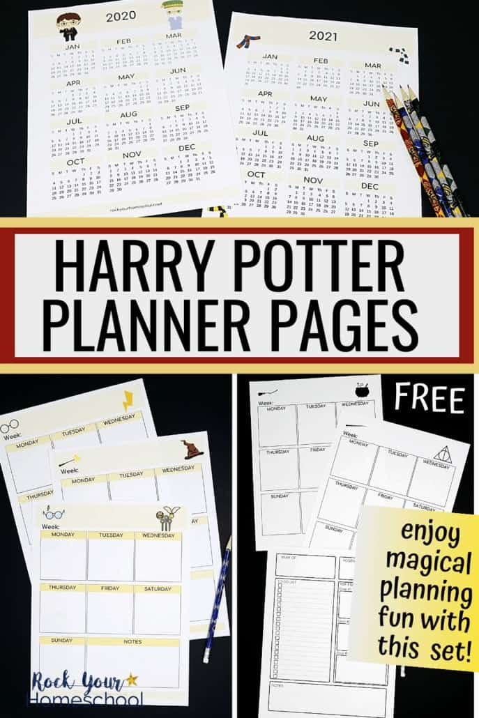 Free Harry Potter Planner Pages for a Fantastic Year