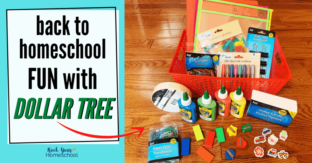 Enjoy fantastic and frugal back to homeschool fun with these tips & ideas for stocking up at Dollar Tree.