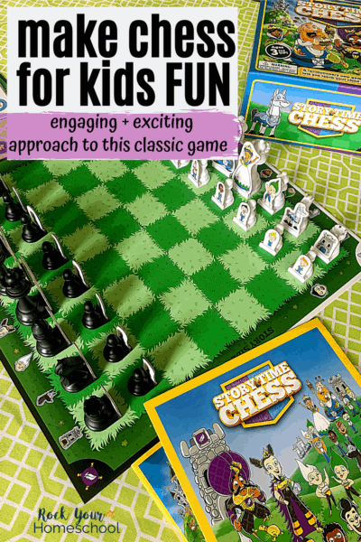 Story Time Chess board game & story book to feature this exciting & engaging approach for making chess for kids fun