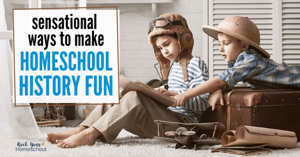 You can make homeschool history fun with a bit of creativity & inspiration.