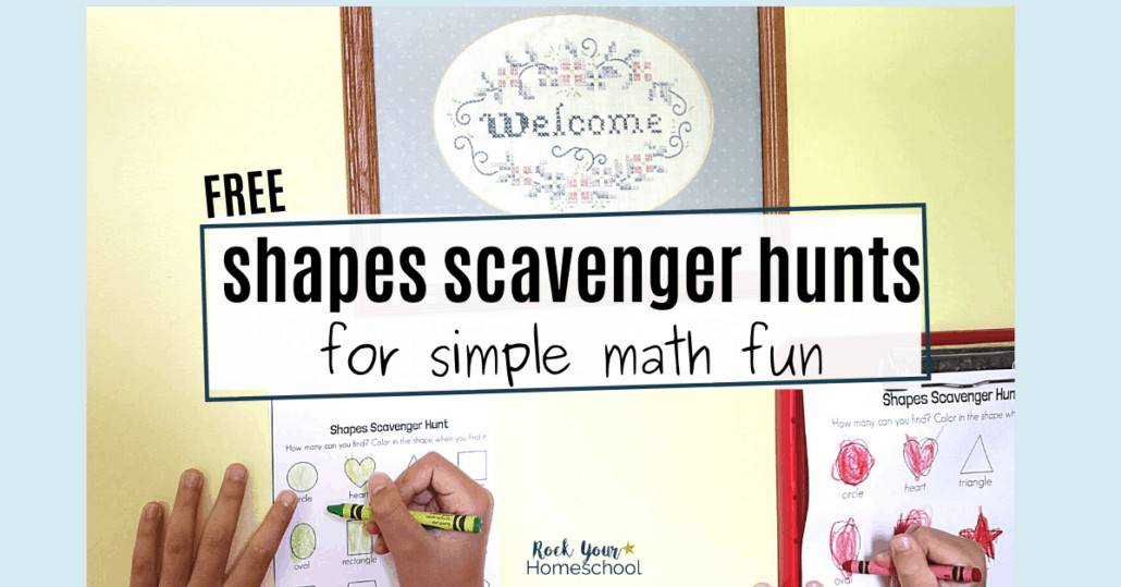 Your kids will love these free shapes scavenger hunts for simple math fun. Awesome challenges to make learning fun!