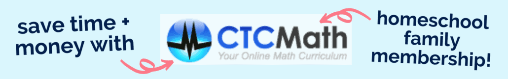 The Homeschool Family Membership by CTCMath helps you save time, money, & your sanity.
