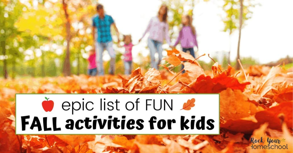 This epic list of fantastic Fall activities for kids will help you plan & prepare for amazing Autumn fun.