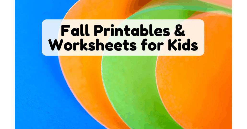 These free printables & worksheets are easy ways to enjoy Fall activities for kids.