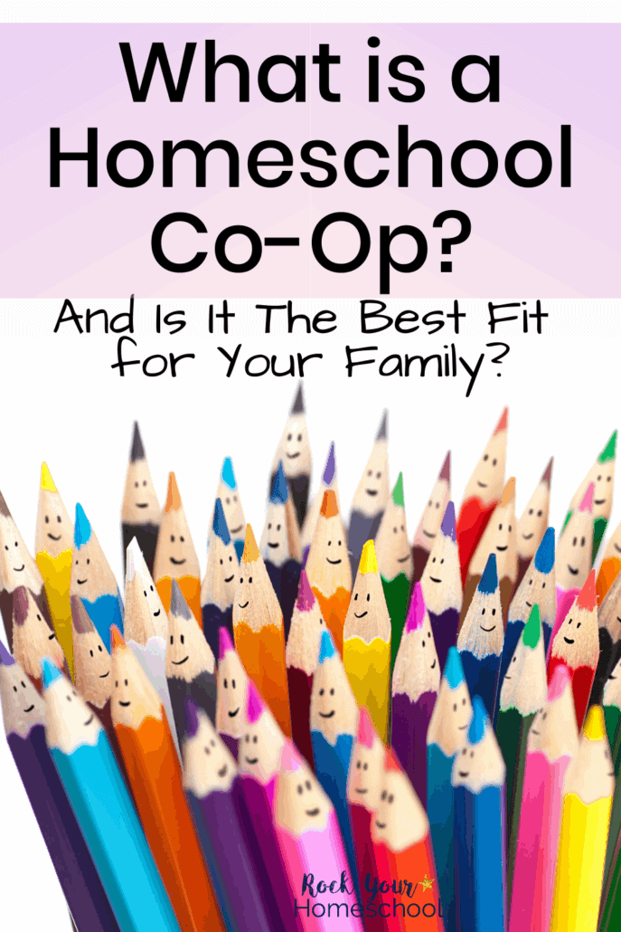 Group of color pencils with smiley faces to feature what is a homeschool co-op and if it is the best fit for your family