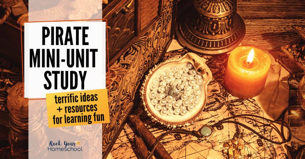 Enjoy a pirate mini-unit study with your kids! Get excellent ideas & resources for interest-led learning at home.