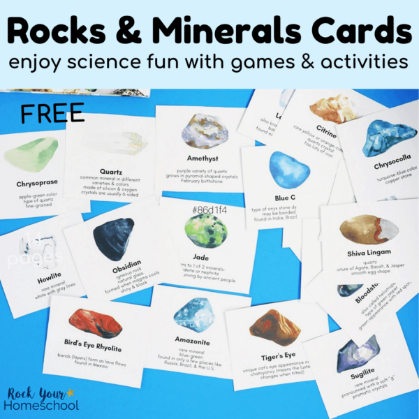 This free set of rocks and minerals cards is fantastic for hands-on science fun.