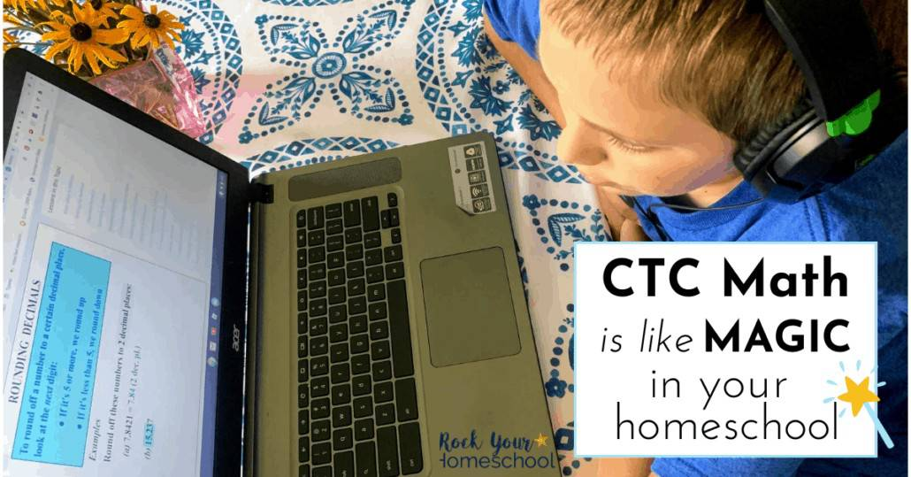 Find out why CTC Math is like magic in your homeschool. This affordable online math curriculum is such a sanity saver for our homeschool with 5 boys.