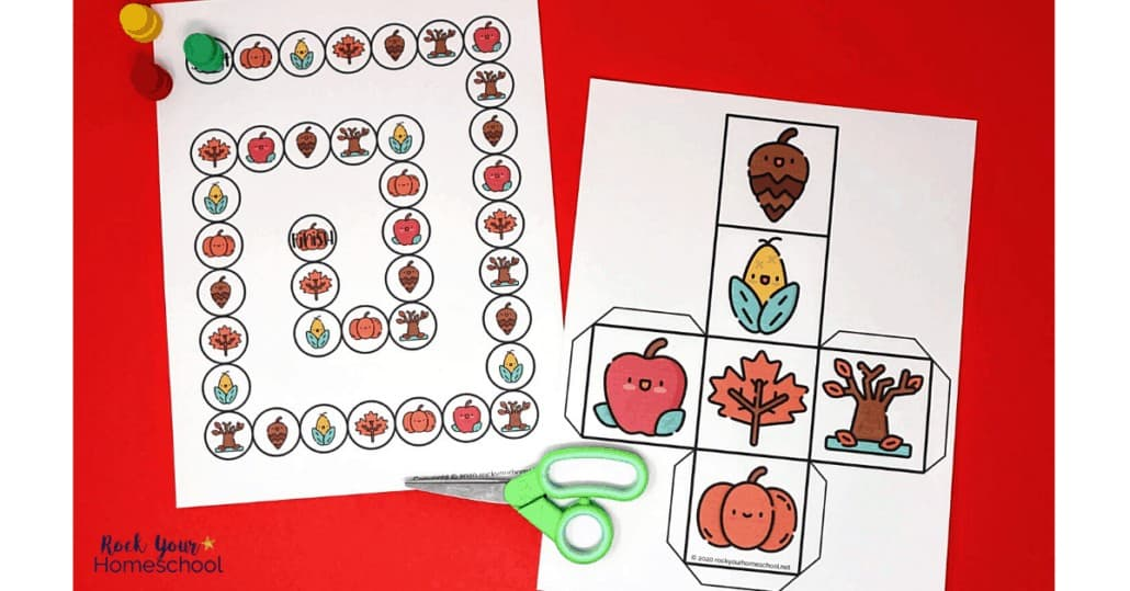 This Fall game for kids is a free printable activity that's perfect for seasonal fun.