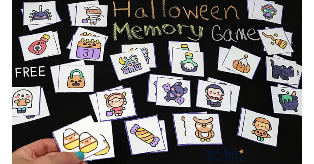 This free Halloween memory game is a simple yet super fun activity to enjoy with your kids.