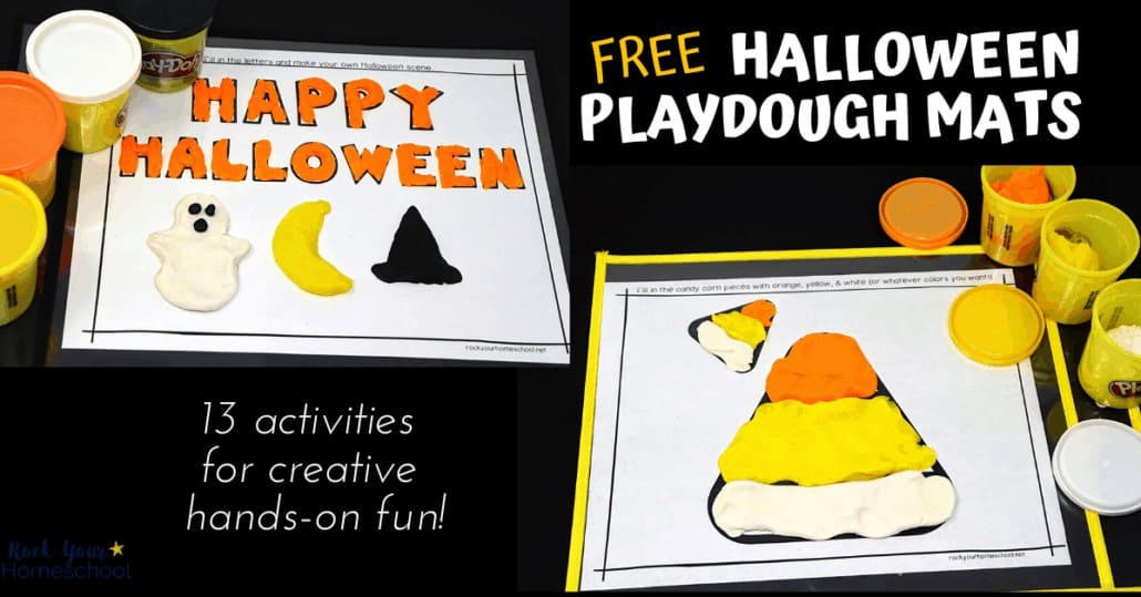 Your kids will have a blast with these 13 free Halloween playdough mats.