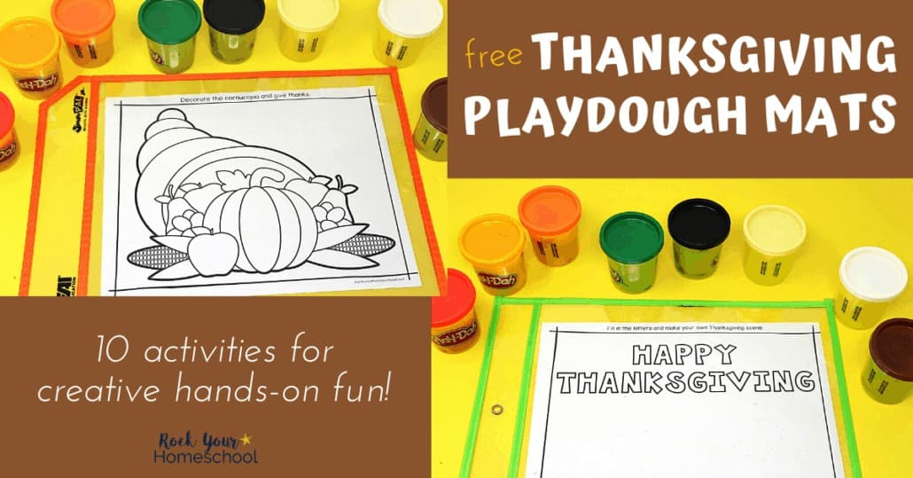 Your kids will have a blast with these free Thanksgiving playdough mats for creative & hands-on holiday fun.