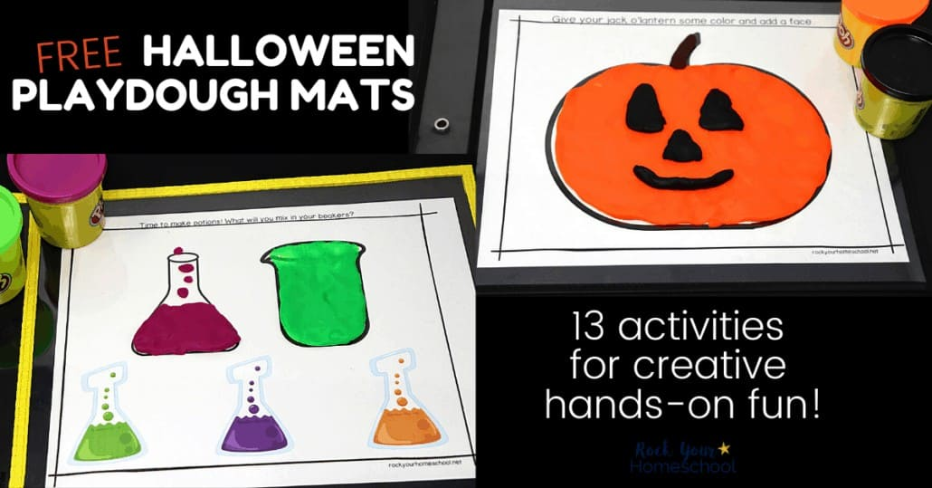 Get ready for an amazing Halloween with this free set of playdough mats for creative hands-on fun.