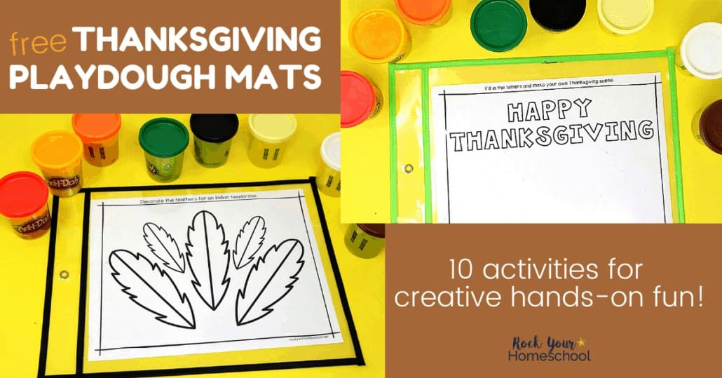 These free Thanksgiving playdough mats are awesome ways to give your kids hands-on, creative fun this holiday.