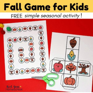 This free Fall game for kids is a simple yet fun seasonal activity.