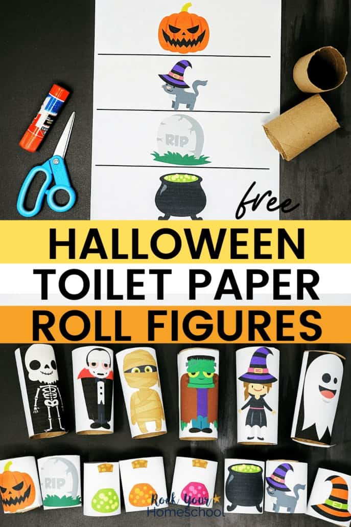 Free Halloween Toilet Paper Roll Figures for Easy Holiday Fun