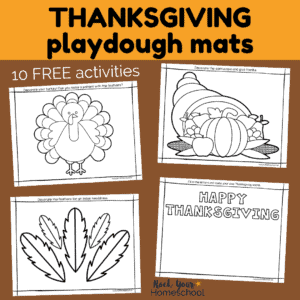 These free Thanksgiving playdough mats are wonderful resources for creative, hands-on holiday fun.