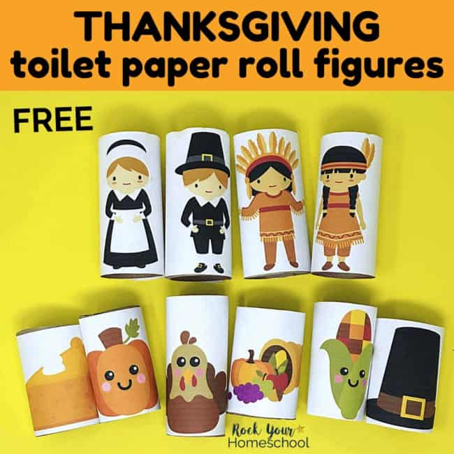 These Thanksgiving toilet paper roll figures are marvelous for creative holiday fun with kids.