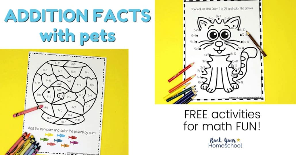 Easily make practicing basic math skills fun with these free Addition Facts Activities with pets.