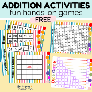 Your kids will have a blast with these fun hands-on addition activities & games.