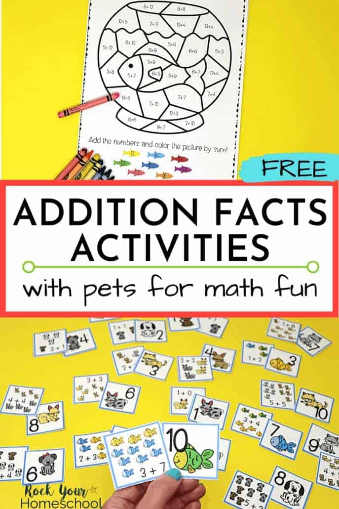 Free Addition Facts with Pets for Fantastic Math Fun