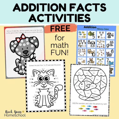 Make learning & practicing basic math skills fun with these free addition facts activities with pets.
