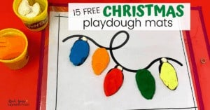 Your kids will love these 15 free Christmas playdough mats with creative prompts for special holiday fun.