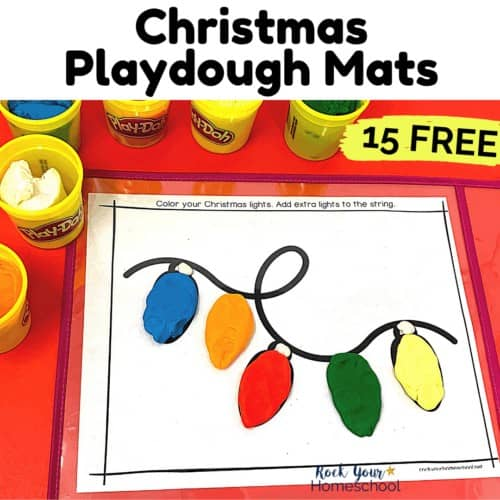 These 15 free Christmas playdough mats are amazing ways to enjoy hands-on holiday fun.